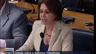 Ângela Portela questiona ministro do Tribunal Superior do Trabalho sobre a reforma Trabalhista