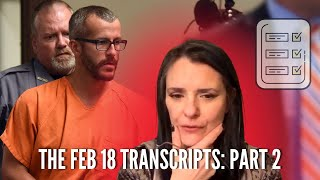 Chris Watts NOW Talking:  Feb 18 Transcripts  Part Two