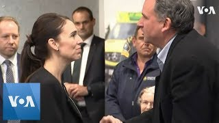 New Zealand Prime Minister Jacinda Arden Pays Tribute To First Responders Of Christchurch Shooting