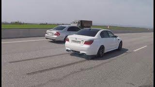BMW M5 E60 =VS= Mercedes Benz W211 5.5 Kompressor . Мка 9я серия.