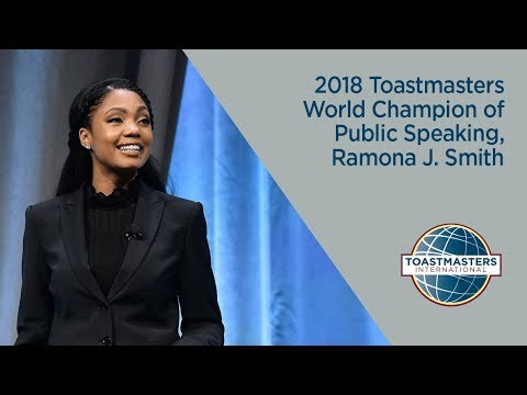 2018 Toastmasters World Champion of Public Speaking, Ramona J. Smith