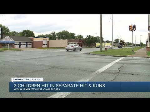 2 children hit in separate hit and runs within 15 minutes in St.Clair Shores