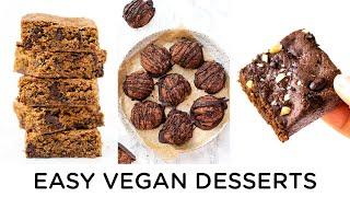 EASY VEGAN DESSERTS ‣‣ Gluten-free & Healthy Holiday Recipes