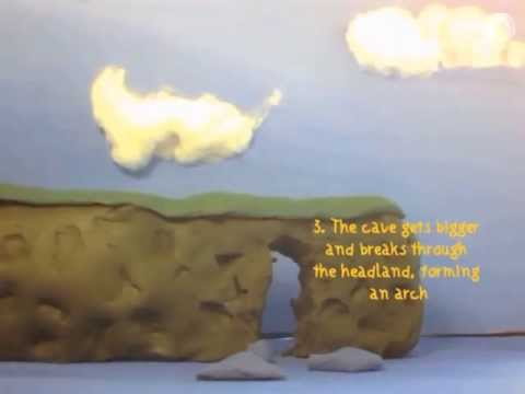 caves arches stacks and stumps diagram circuit breaker wiring sea stack cave waterfalls south of petty harbour animation play