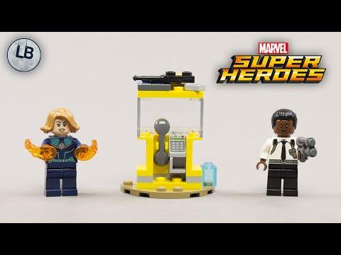 Vidéo LEGO Marvel 30453 : Captain Marvel et Nick Fury (Polybag)