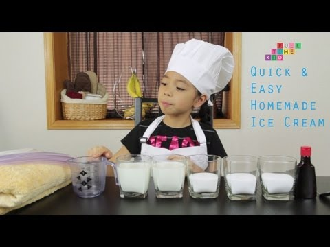 Video Easy Homemade Ice Cream | Full-Time Kid | PBS Parents