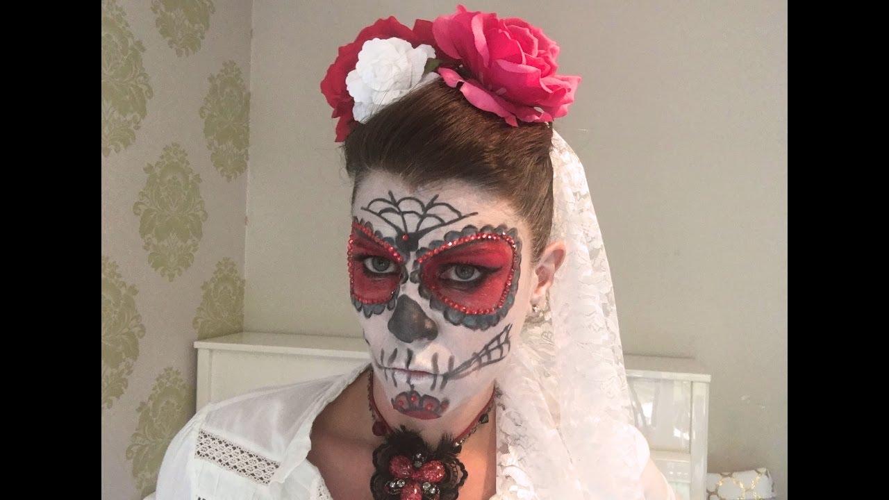 Disfraz de HALLOWEEN: maquillaje de CATRINA y ropa, la que encuentres en casa.
