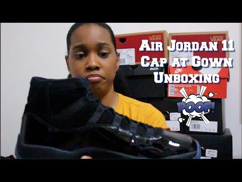 60 second shoe review on the Jordan cap and gown 11s - смотреть ... 01ffa14e7b06