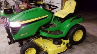 Putting Accessories on the New John Deere X570