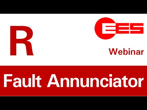 This video is a recording of our webinar held on 2nd December 2014 about our new generation of fault annunciators. It shows latest developments of EES in alarm processing in switchgear cabinets.