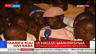 Siaya residents react after the postponement of results in the area
