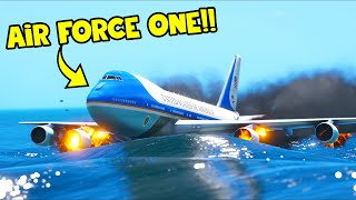 EMERGENCY LANDING in the OCEAN with President on Board!! (GTA 5 Mods)