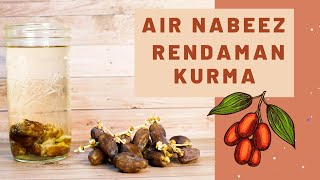 Cara Membuat Infused Water Kurma Air Nabeez