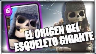 EL ORIGEN DEL ESQUELETO GIGANTE-CREEPYPASTA CLASH ROYALE-Nefi 56