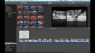 iMovie Tutorial 2015 - Insert Video, Cut Away,  and Split Screen Video How To