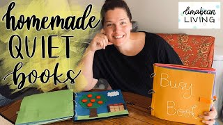 HOMEMADE BUSY BOOKS | Interactive Activities For Your Kids | DIY QUIET BOOKS TO KEEP OR SELL