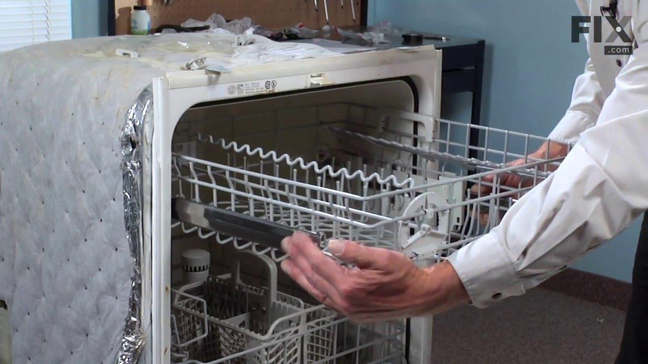 Replacing your Maytag Dishwasher White Dishrack Roller