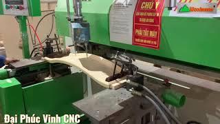 Phay soi rãnh + khoan tay nắm học kéo Woodmaster trong nhà máy chế biến gỗ xuất khẩu | HF-110C