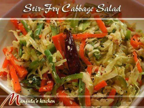 Stir-Fry Cabbage Salad Recipe by Manjula