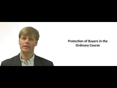 Protection of a Buyer in the Ordinary Course of Business