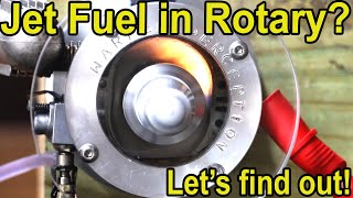 Jet Fuel in See-Thru Rotary Engine? Let's try it! Wankel Rotary See Through Engine