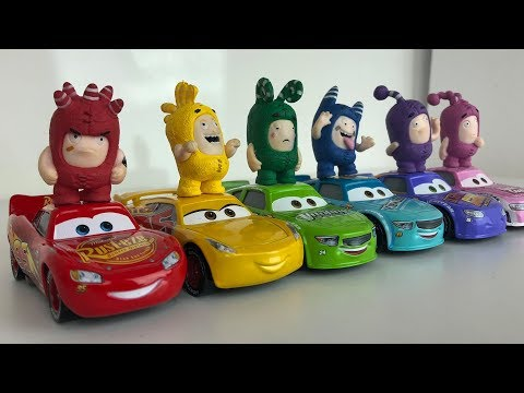Learn Colors With Lightning Mcqueen Car 3 Toys And Oddbods Toys