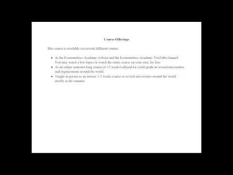 Econometrics - Course by Econometrics Academy - YouTube