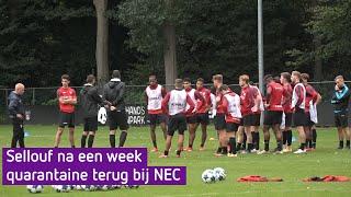 Sellouf terug bij NEC na corona: 'toen de test negatief was, sprong ik van de bank af'