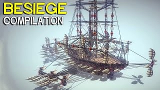 ►Besiege Compilation - Cool Flying War Machines