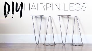 DIY Hairpin Legs | Bending Metal Rod Without Heat