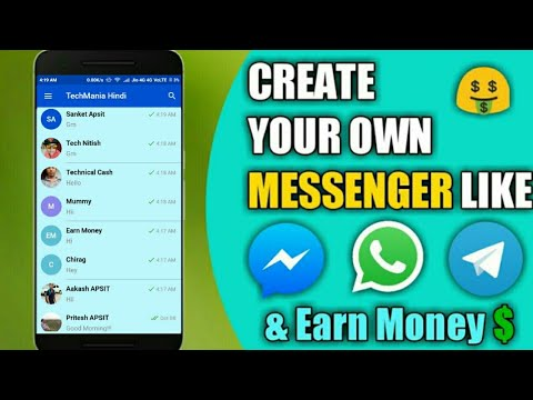 How To Create Your Own Messenger Like Whatsapp Facebook And Earn Money || Create Free Android App Mp3