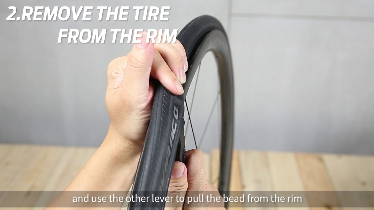 How to fix a flat with a tube
