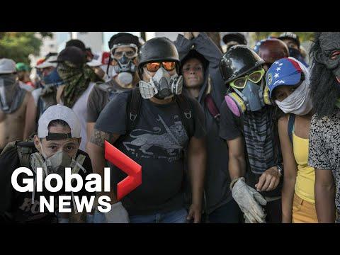Varios heridos por enfrentamientos durante las protestas en Venezuela