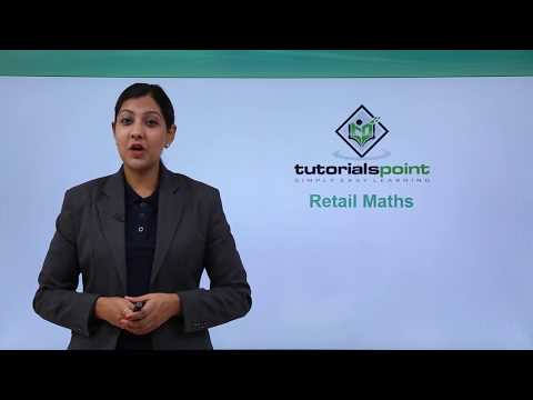Retail Management - Retail Maths