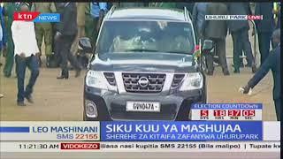 Nairobi Governor Mike Mbuvi Sonko arrives at Uhuru park
