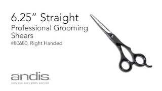 Andis Professional Animal Grooming Shears - 6.25 Inch Straight Shears, Right Handed
