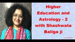 Higher Education and Astrology 2 with Shashwata Baliga ji