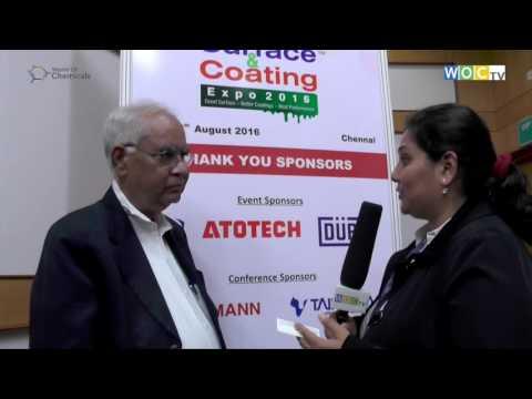 Prof Baldev Raj, Director, NIAS at Surface & Coating Expo 2016