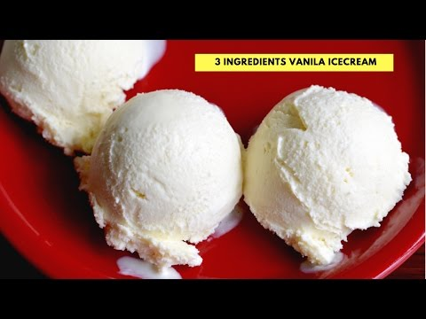 Video Homemade Vanilla Ice Cream -  No Egg - No Ice Cream Machine- step by step Vanila ice cream recipe