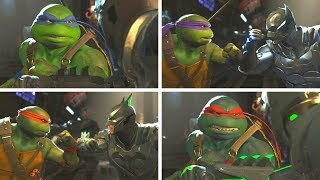 Injustice 2 - TMNT (Ninja Turtles) Vs Batman -  All Intro Dialogue/All Clash Quotes