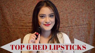 Image for video on Top 6 Red Lipstick shades for Indian Skin Tones by Aarushi Jain
