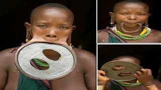 Largest Lip Plate: Woman with the World's Biggest Lip Disc - measuring nearly 60cm