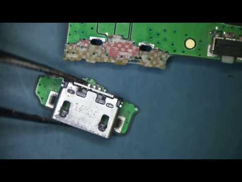 Ремонт планшета Lenovo IdeaTab A7600-H.  Вариант ремонта, когда usb разъем выломан с куском платы.