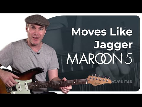Moves Like Jagger - Maroon 5 - Easy Beginner Song Guitar Lesson Tutorial (BS-223)