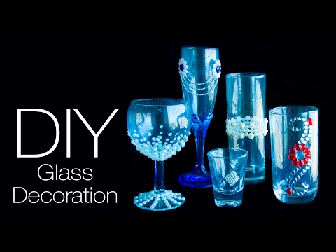 5 DIY Glass decoration ideas | easy and quick decorate  your glass | 5 ways to decorate glass