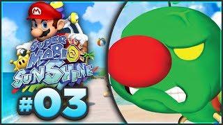 Super Mario Sunshine 100% Walkthrough | ALL Gelato Beach Shine Sprites! [Episode 3 🔴LIVE] | Kholo.pk