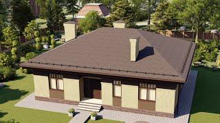 Проект дома 141-C, Площадь дома: 141 м2, Размер дома:  12,3x13,6 м
