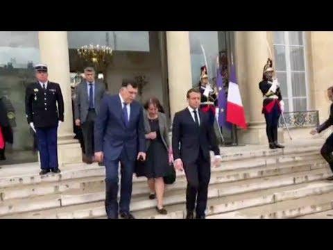 الرئيس الفرنسي يجدد دعم بلاده لحكومة الوفاق الوطني الليبية