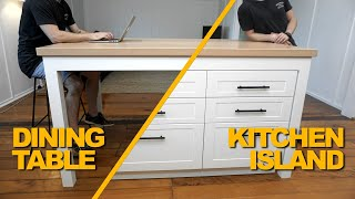 Making A Kitchen Island / Dining Table   Woodworking