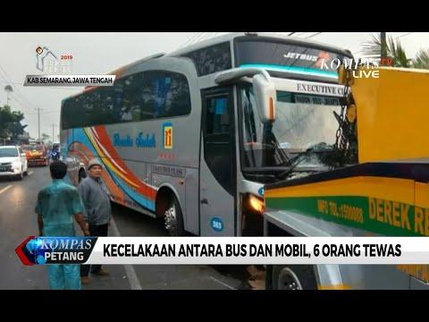 Kecelakaan Antara Bus Rosalia Indah dan Mobil di Desa Klero, 6 Orang Tewas